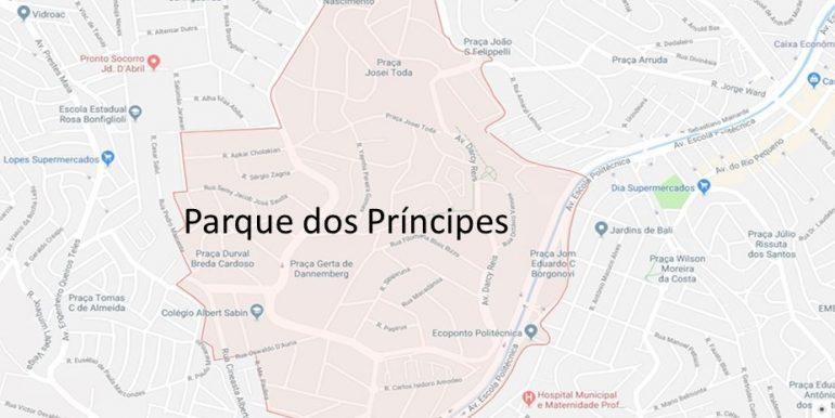 Mapa do Parque dos Princípes