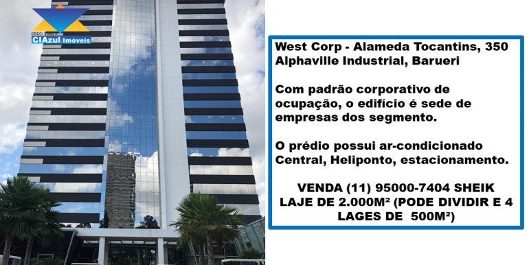 West Corp - Alameda Tocantins, 350 (2)